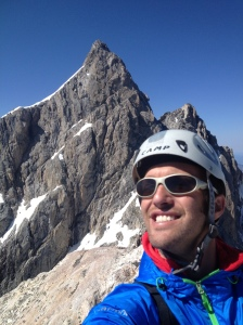 Guiding a client up Mt. Owen in the Grand Teton National Park